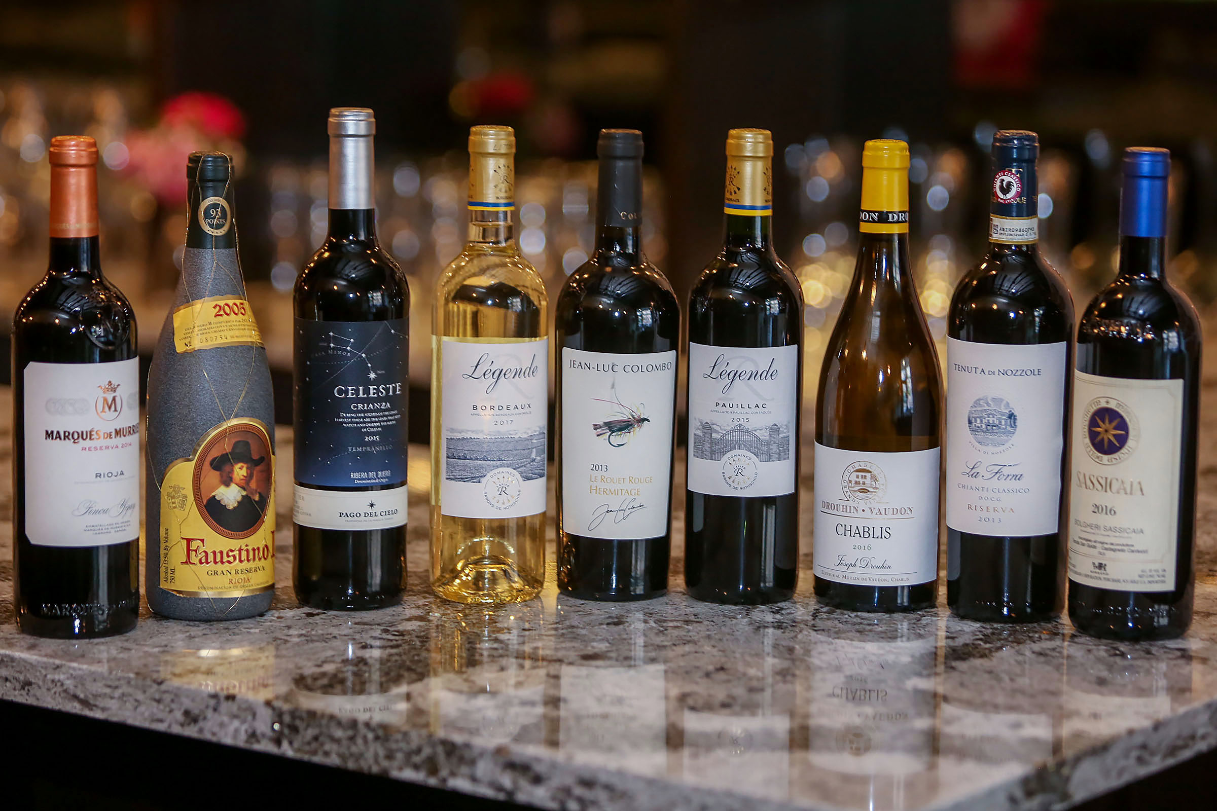 Bar Le French Flair massive wine menu is updated with international flair
